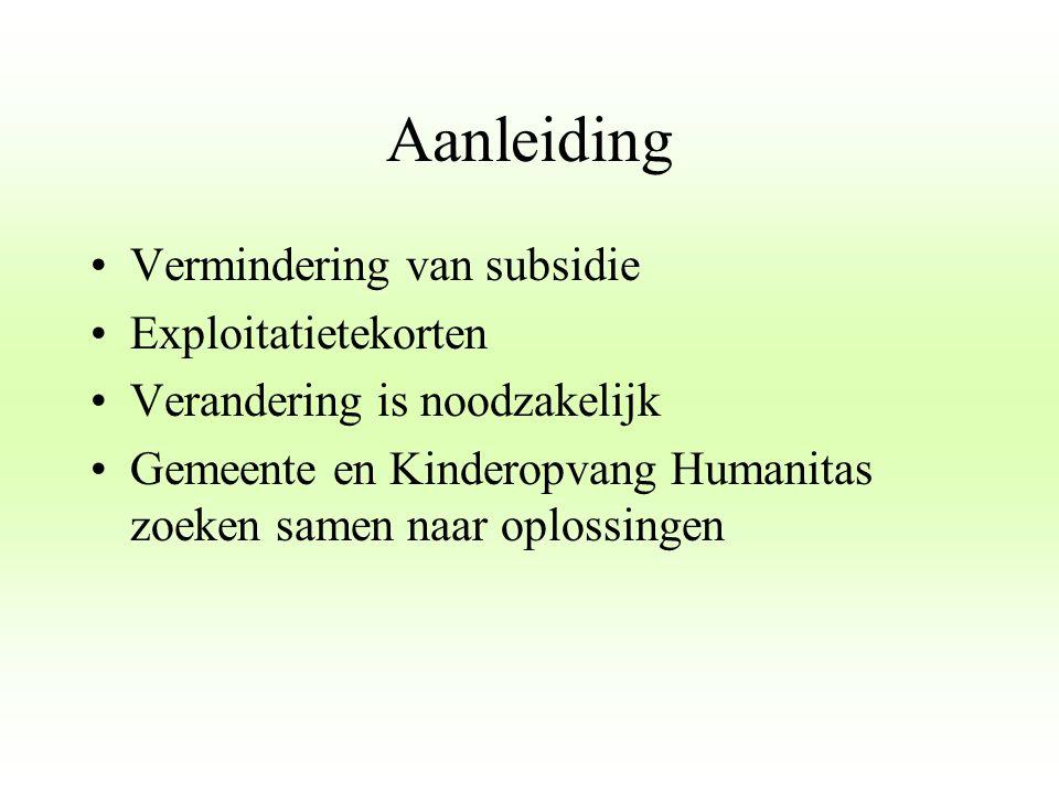 De verandering Vanaf 1 juli 2012: Peuteropvang gaat verder onder de Wet Kinderopvang Dagdeel peuteropvang wordt 5,5 uur Standaard 2 dagdelen peuteropvang VVE: 3 dagdelen peuteropvang