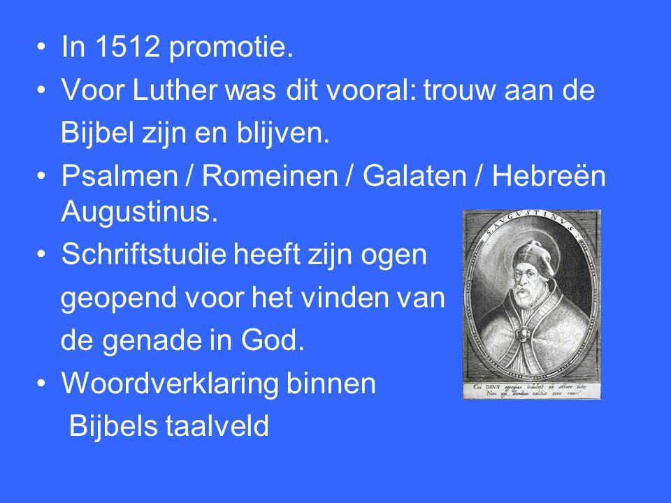Les 2 Maarten Luther. In 1511 gaat Luther voorgoed naar Wittenberg.