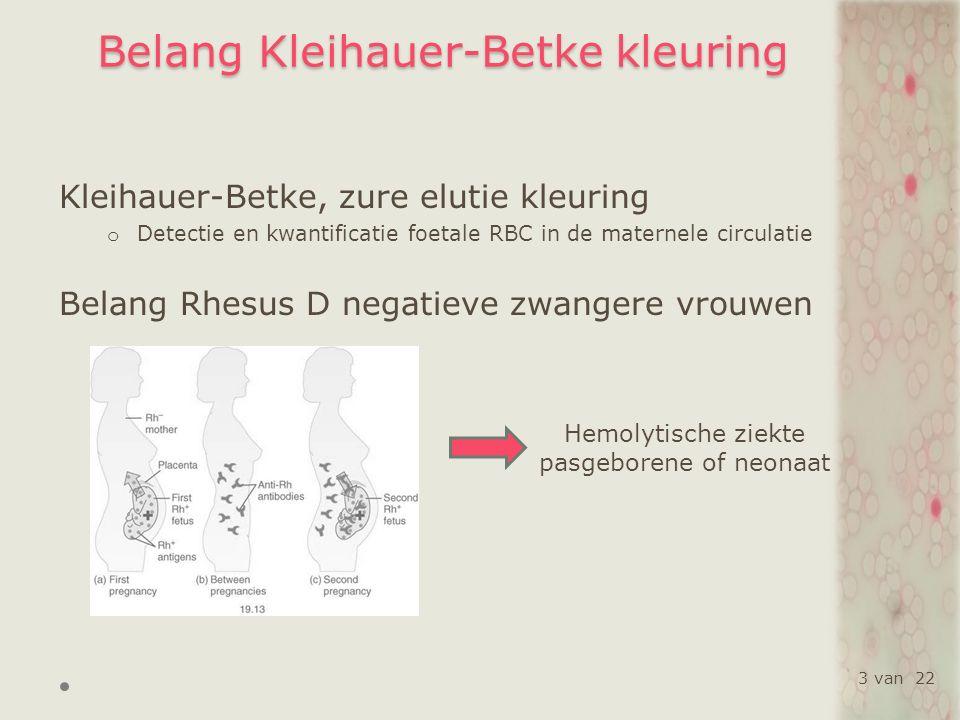 Resultaten en discussie Analytische aspecten Vergelijking kleuringskits m.b.v.