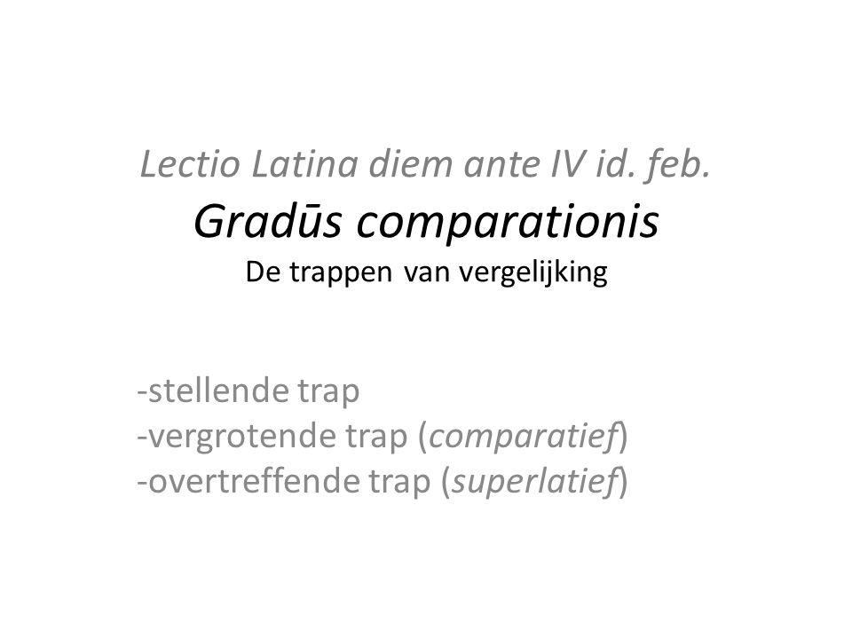 Lectio Latina diem ante IV id. feb.