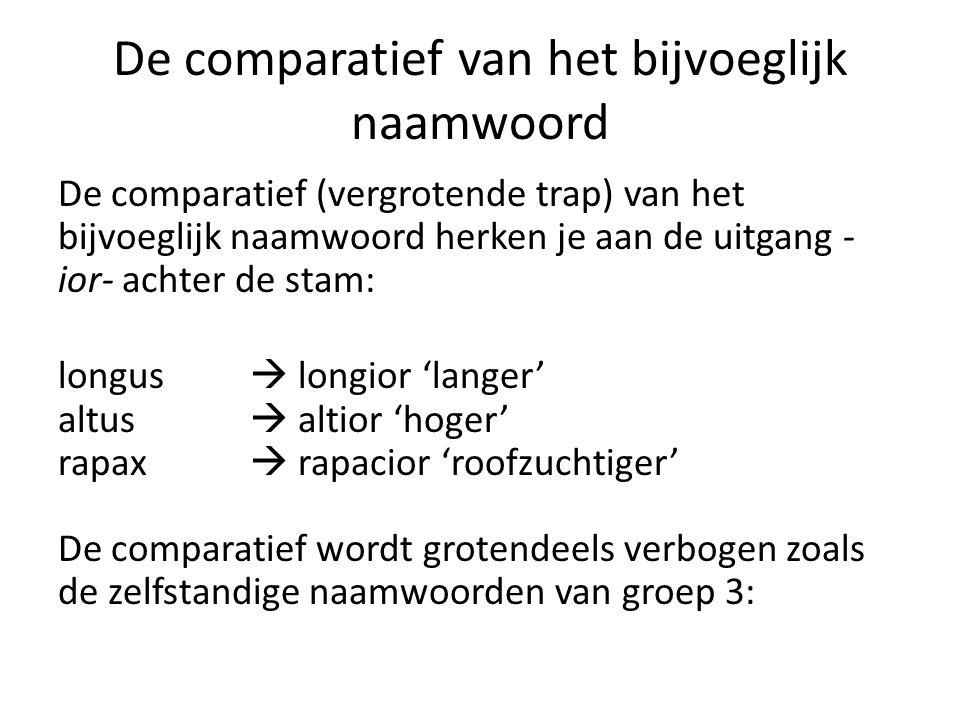 De comparatief (bnw.): verbuiging mnl./vrl.onz.nom.