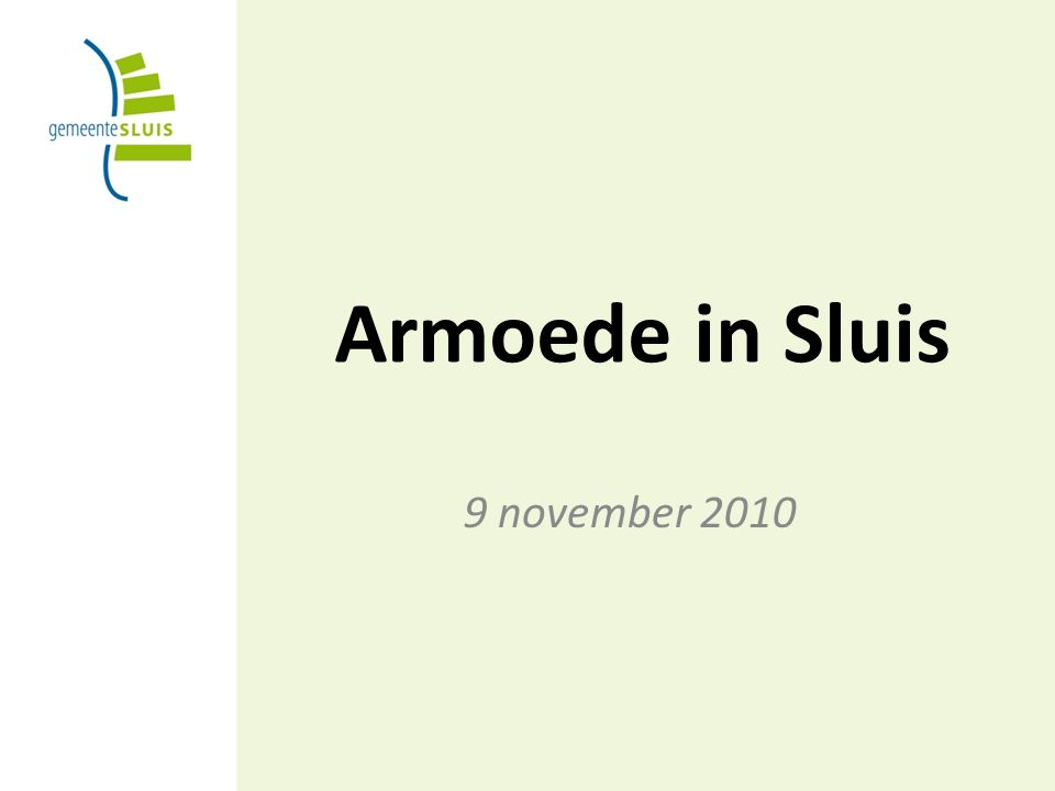 Armoede in Sluis 9 november 2010