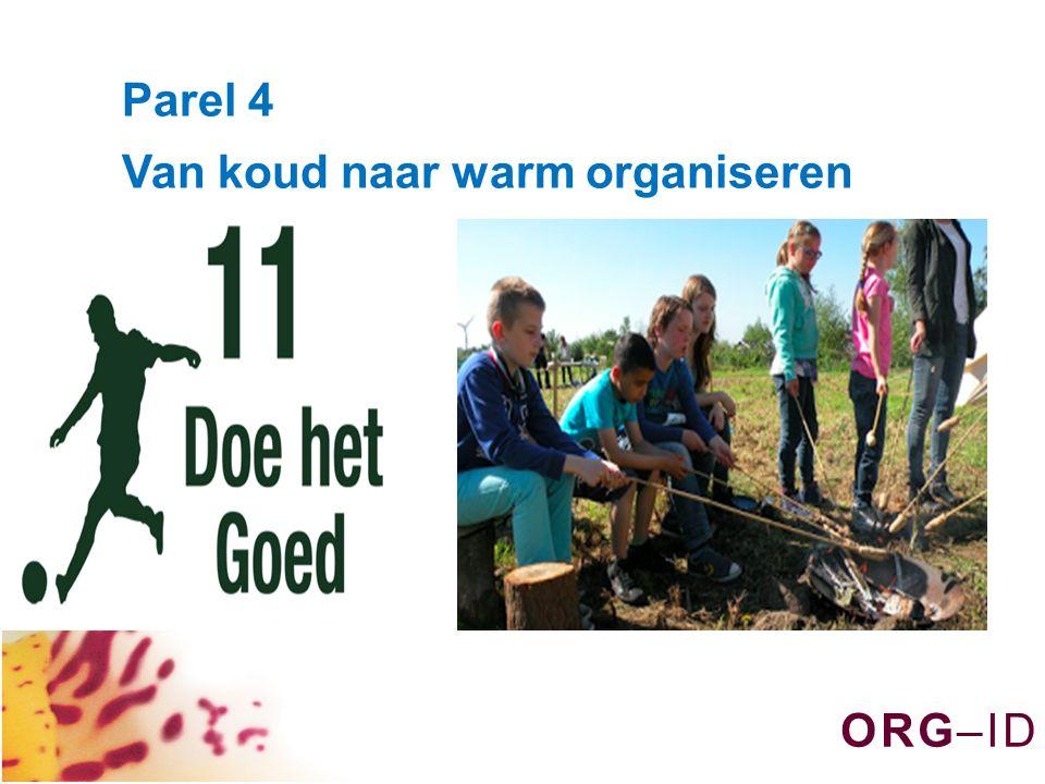 O R G – I DO R G – I D Parel 4 Van koud naar warm organiseren