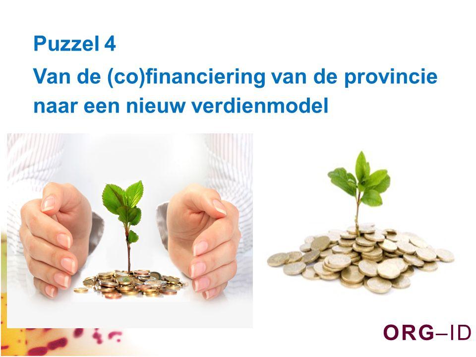 O R G – I DO R G – I D Puzzel 4 Van de (co)financiering van de provincie naar een nieuw verdienmodel