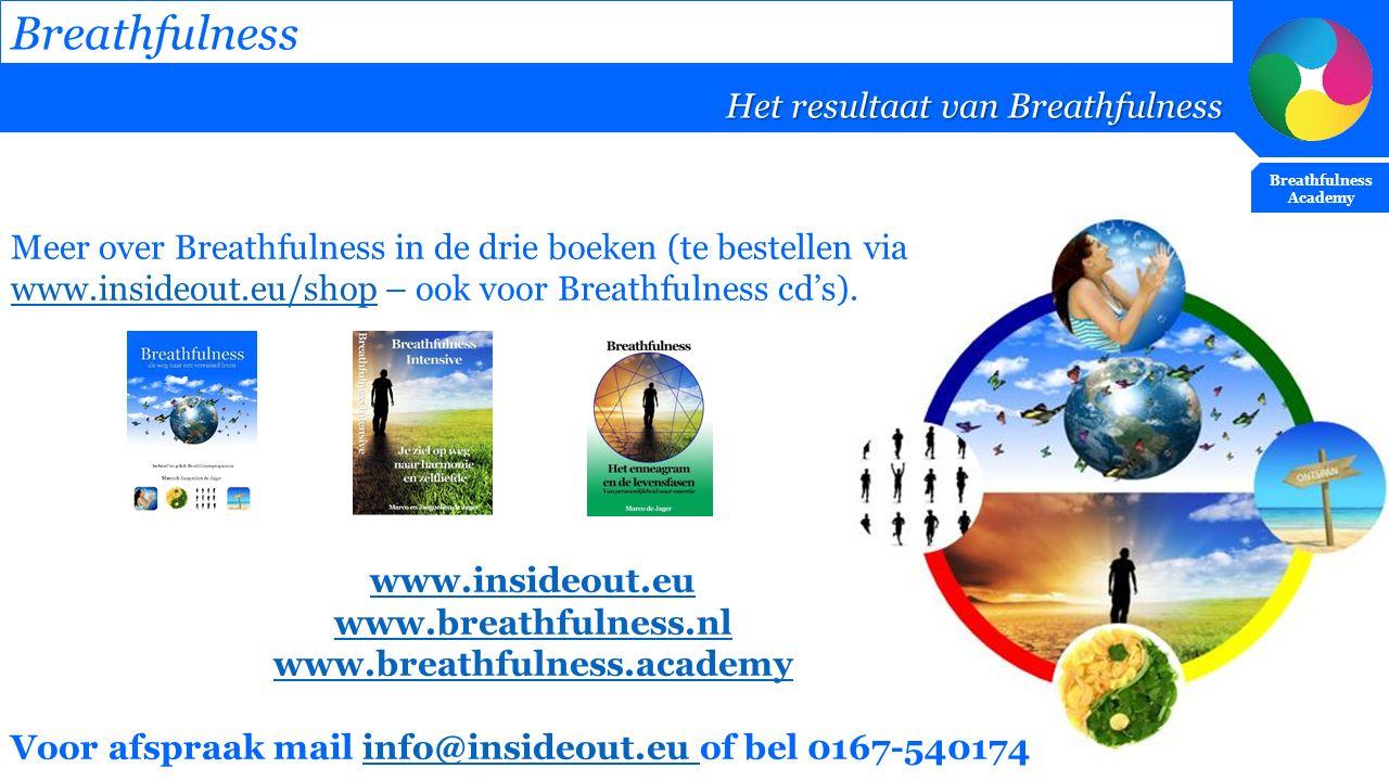 Breathfulness Het resultaat van Breathfulness Breathfulness Academy Meer over Breathfulness in de drie boeken (te bestellen via www.insideout.eu/shop
