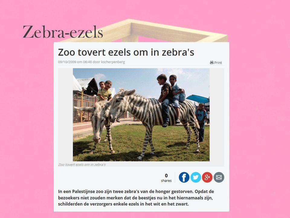 Zebra-ezels
