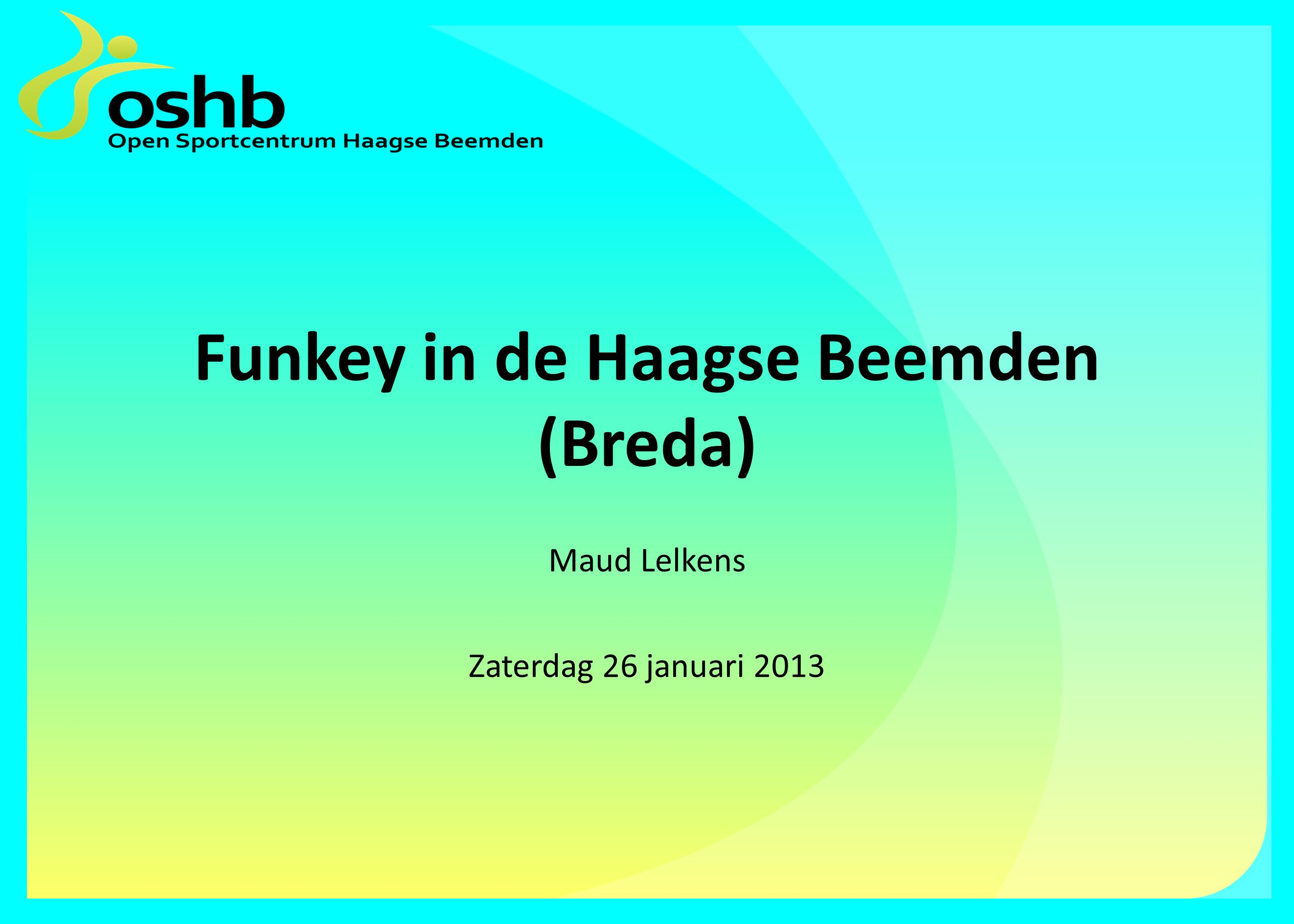 Funkey in de Haagse Beemden (Breda) Maud Lelkens Zaterdag 26 januari 2013