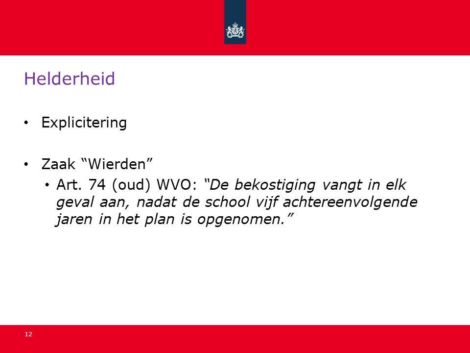 12 Helderheid Explicitering Zaak Wierden Art.