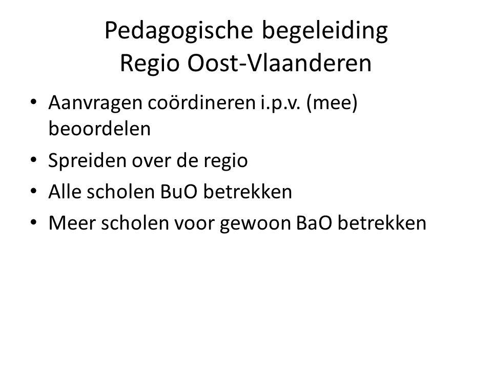 Pedagogische begeleiding Regio Oost-Vlaanderen Aanvragen coördineren i.p.v.