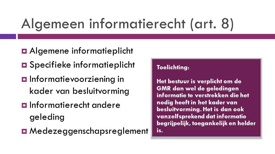 Algemeen informatierecht (art.
