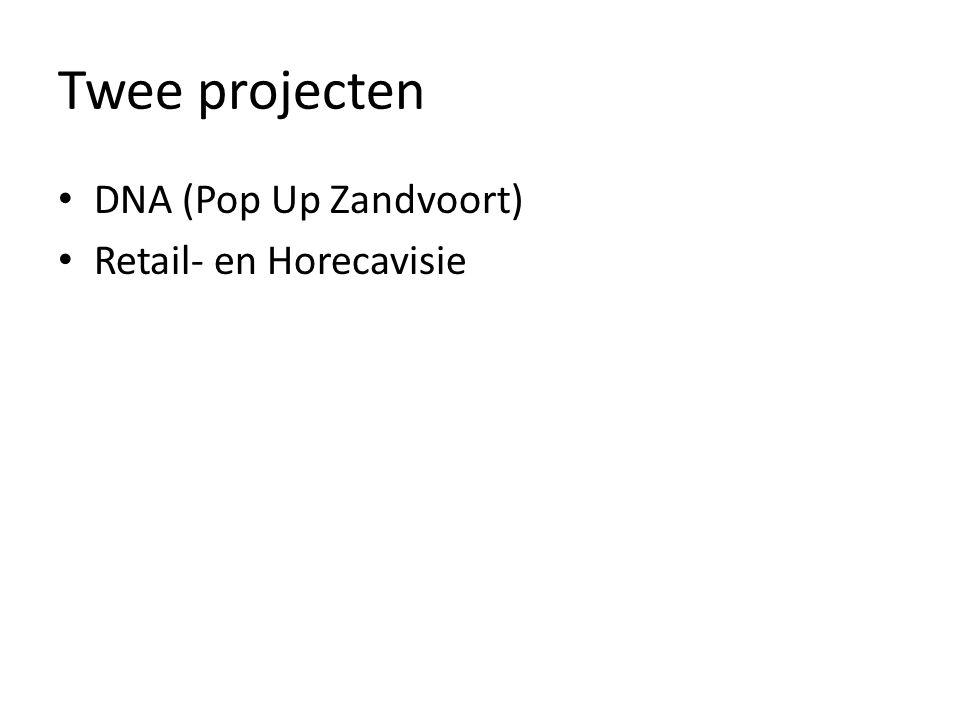 DNA = Pop Up Zandvoort Provincie en IMA Onderscheidend profiel Belangrijk: -Aansluitend bij volksaard -Te vermarkten Ondernemende trendvolgers Massa bereiken