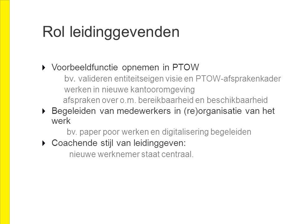 Rol leidinggevenden Voorbeeldfunctie opnemen in PTOW bv.