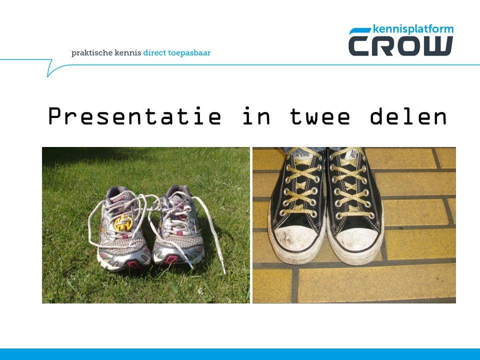 Presentatie in twee delen