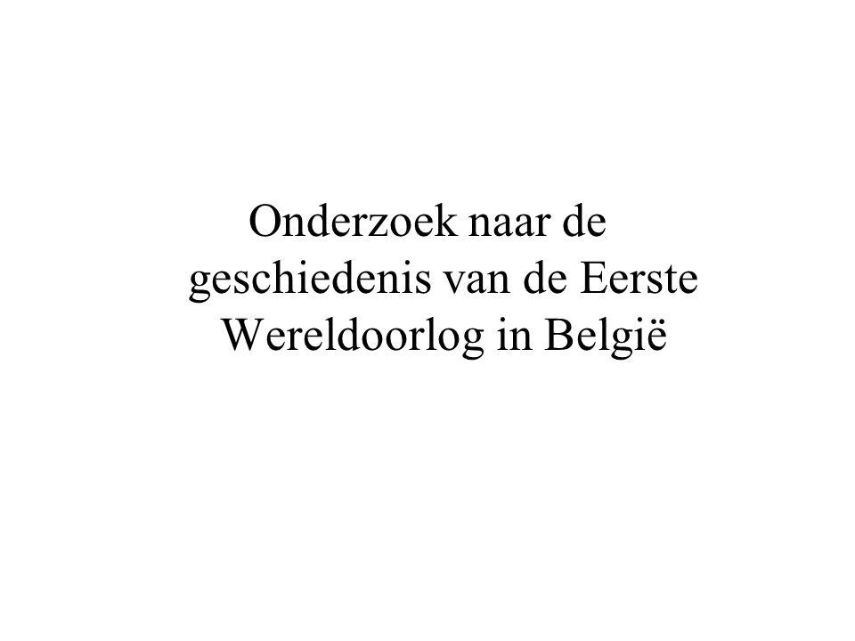Onderzoek naar de geschiedenis van de Eerste Wereldoorlog in België