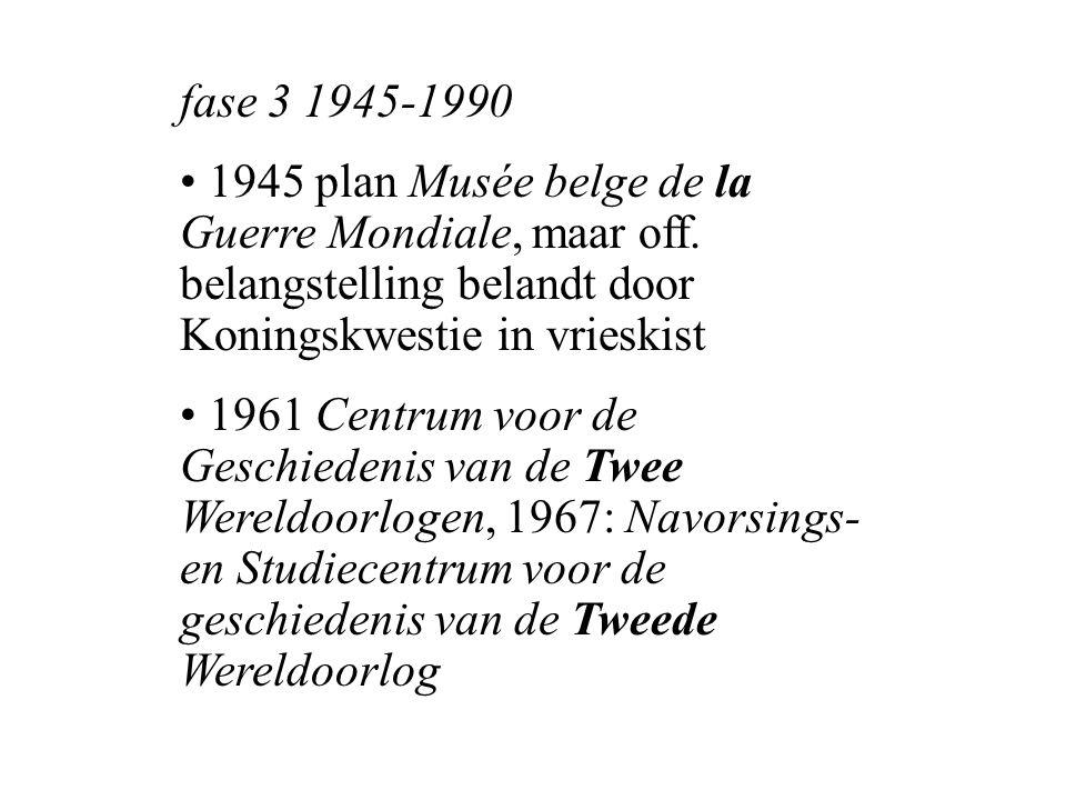 fase 3 1945-1990 1945 plan Musée belge de la Guerre Mondiale, maar off.