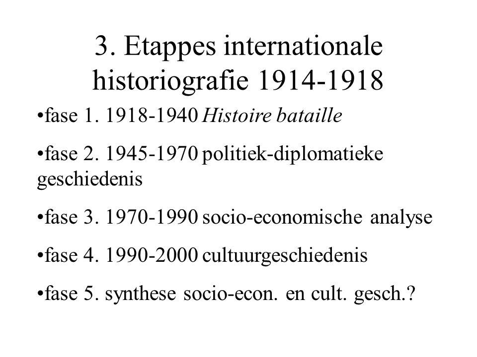 3. Etappes internationale historiografie 1914-1918 fase 1.