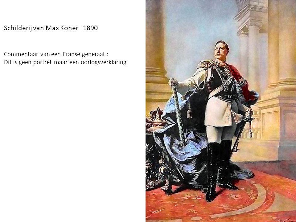 Schilderij van Max Koner 1890 Commentaar van een Franse generaal : Dit is geen portret maar een oorlogsverklaring