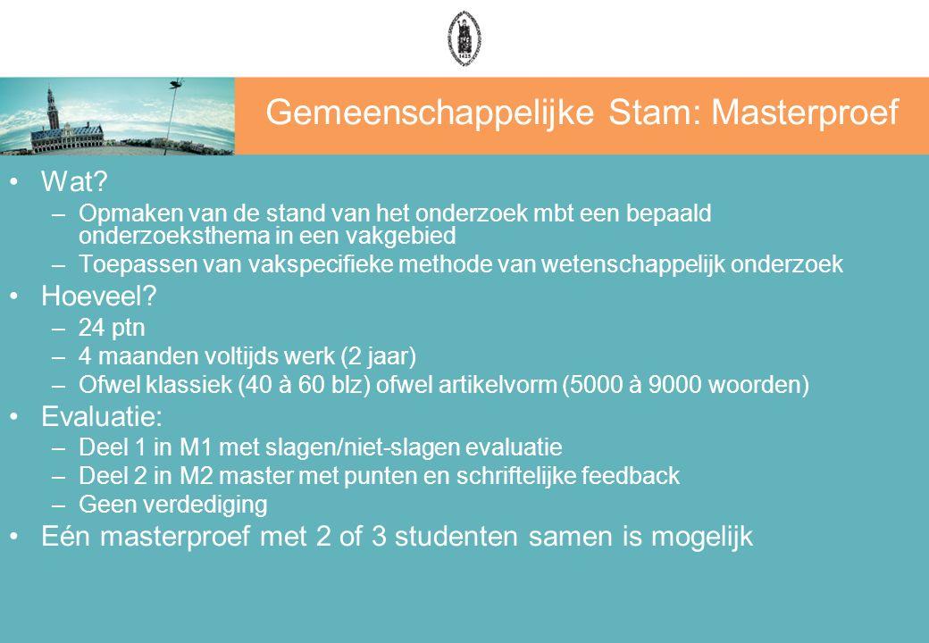 Gemeenschappelijke Stam: Masterproef Wat.