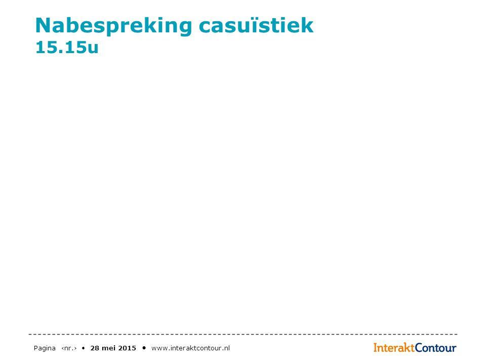 Pagina ‹nr.› 28 mei 2015 www.interaktcontour.nl Nabespreking casuïstiek 15.15u
