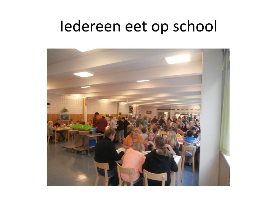 Iedereen eet op school