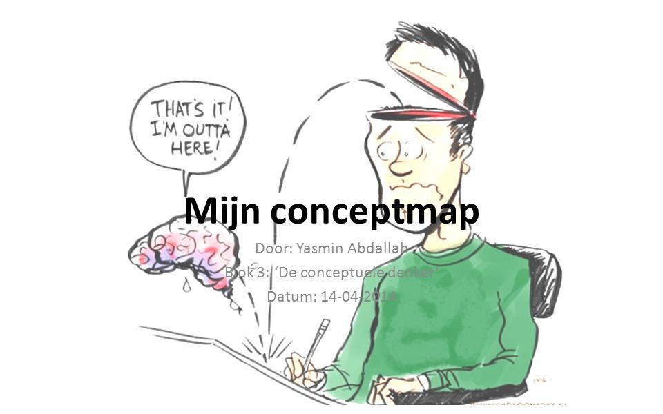 Mijn conceptmap Door: Yasmin Abdallah Blok 3: 'De conceptuele denker' Datum: 14-04-2014