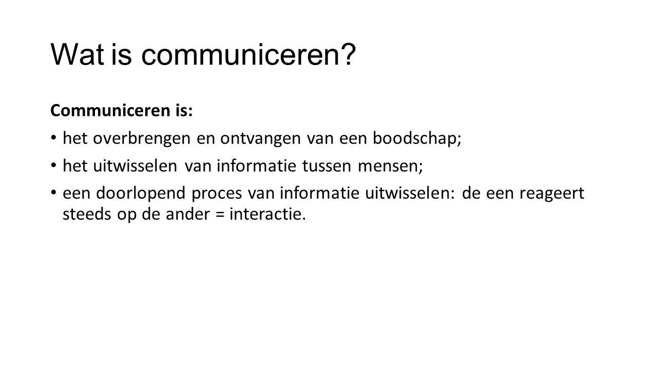 Wat is communiceren.