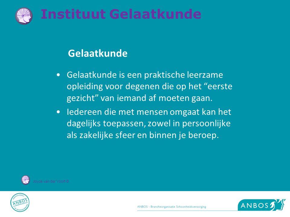 Joyce van der Voort © Gelaatkunde is een praktische leerzame opleiding voor degenen die op het eerste gezicht van iemand af moeten gaan.