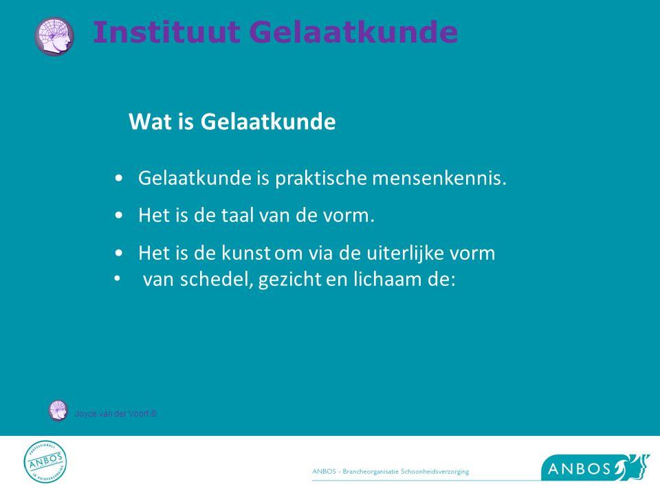 Joyce van der Voort © Wat is Gelaatkunde Gelaatkunde is praktische mensenkennis. Het is de taal van de vorm. Het is de kunst om via de uiterlijke vorm