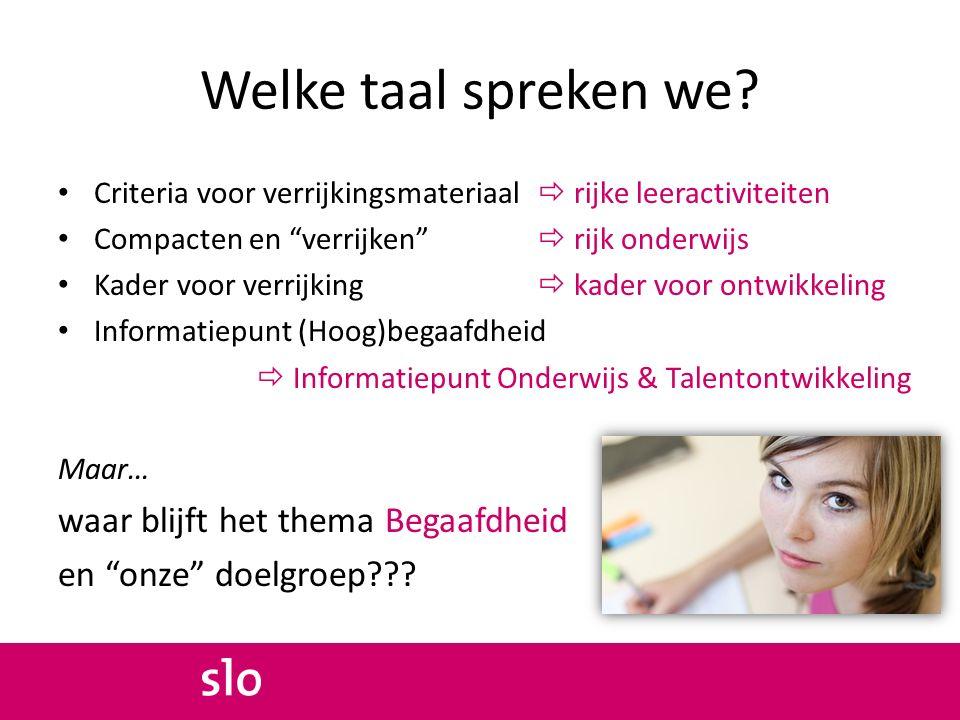 & Passend onderwijs www.talentstimuleren.nl (Hoe) is dat passend? (hoog)begaafdheid