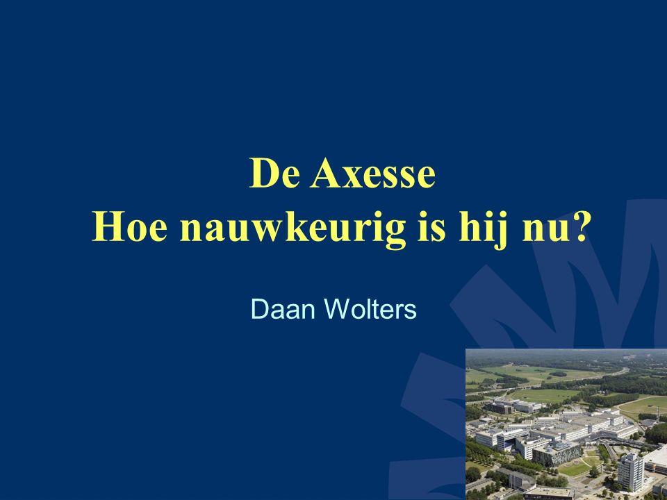 De Axesse Hoe nauwkeurig is hij nu Daan Wolters