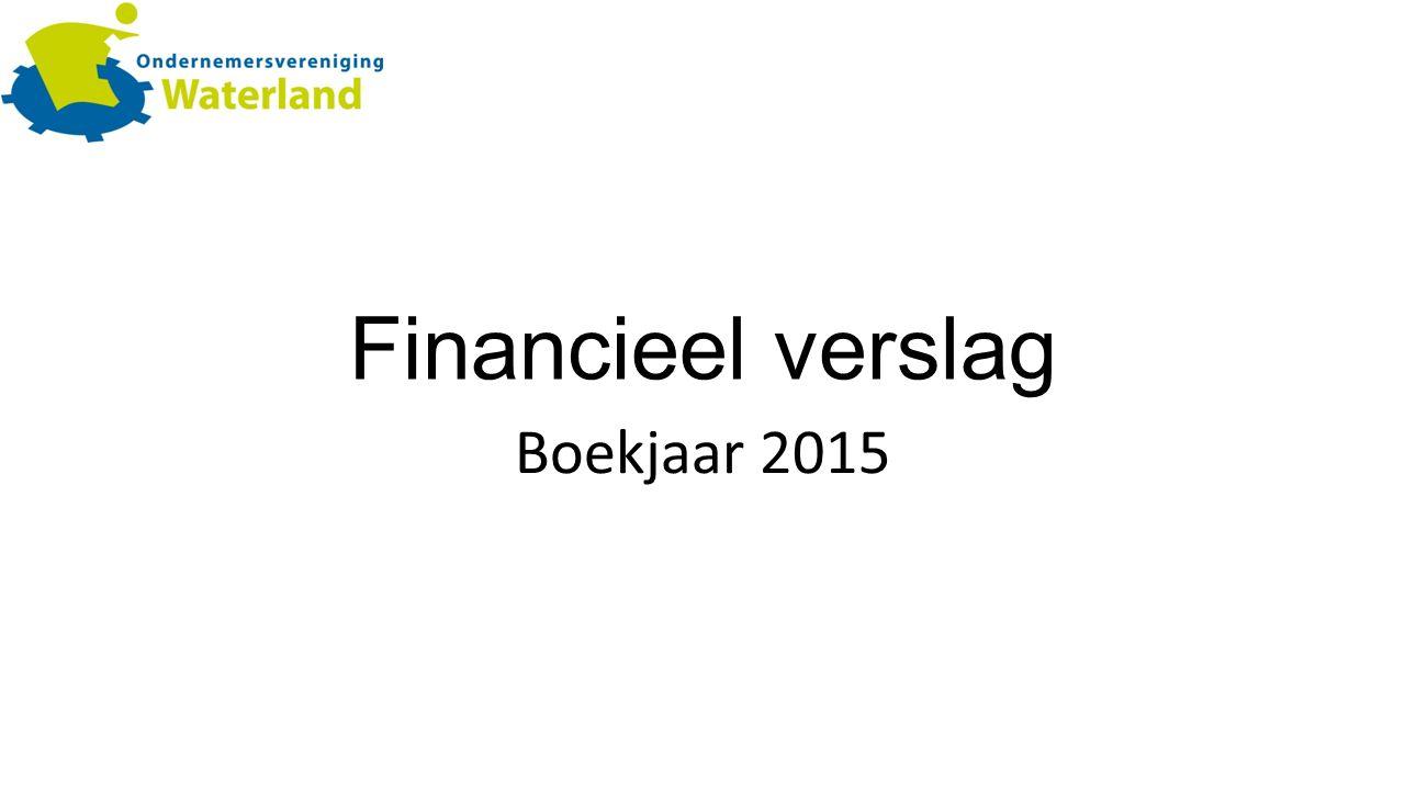 Financieel verslag Boekjaar 2015