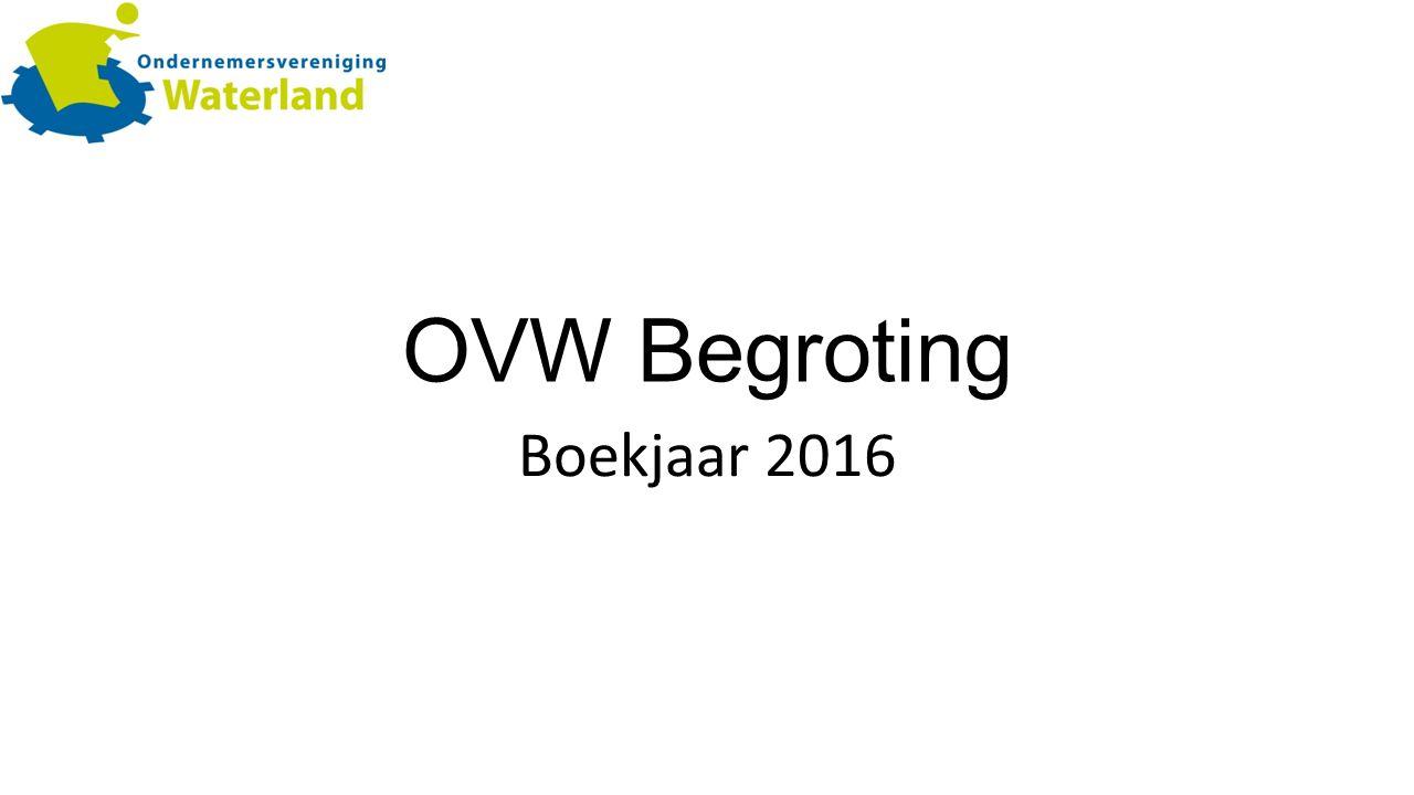 OVW Begroting Boekjaar 2016
