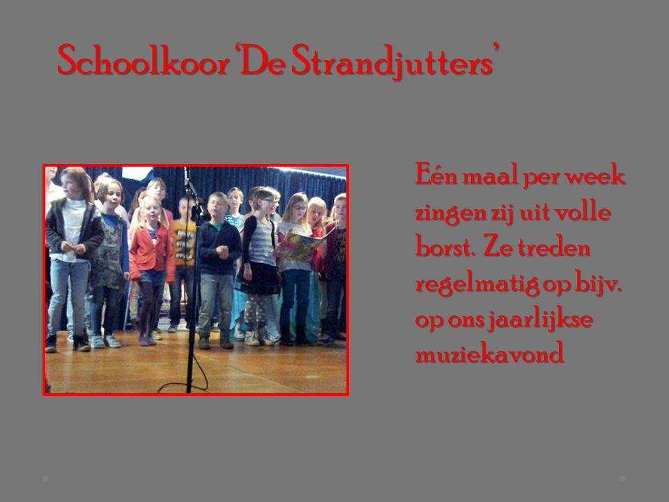 Schoolkoor 'De Strandjutters' Eén maal per week zingen zij uit volle borst.