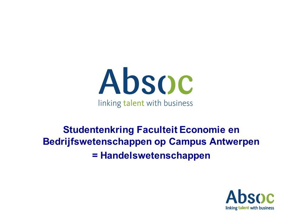 Studentenkring Faculteit Economie en Bedrijfswetenschappen op Campus Antwerpen = Handelswetenschappen