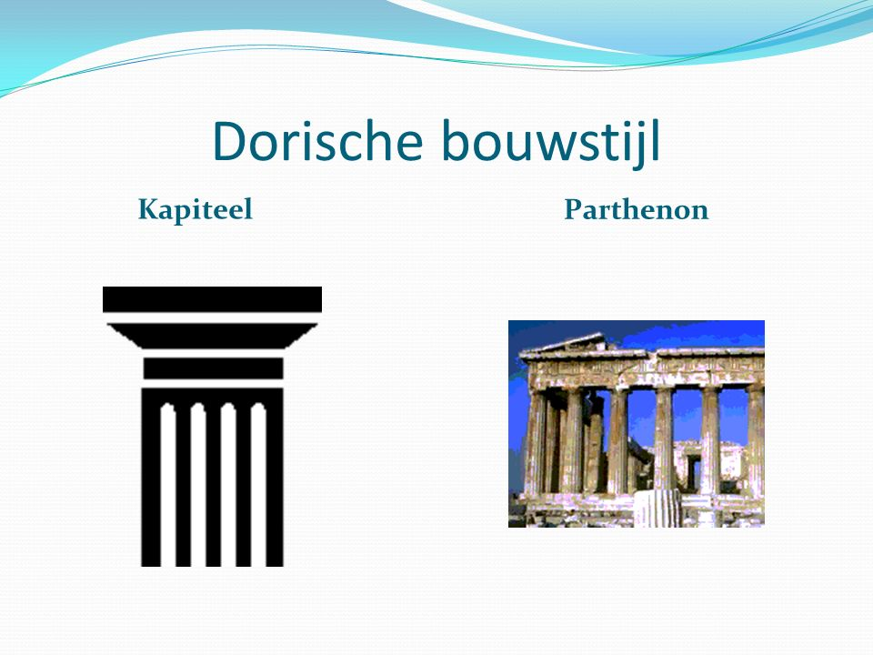 Dorische bouwstijl Kapiteel Parthenon