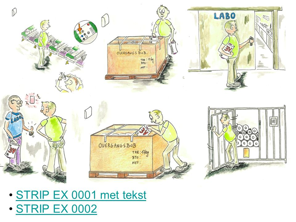 STRIP EX 0001 met tekst STRIP EX 0002