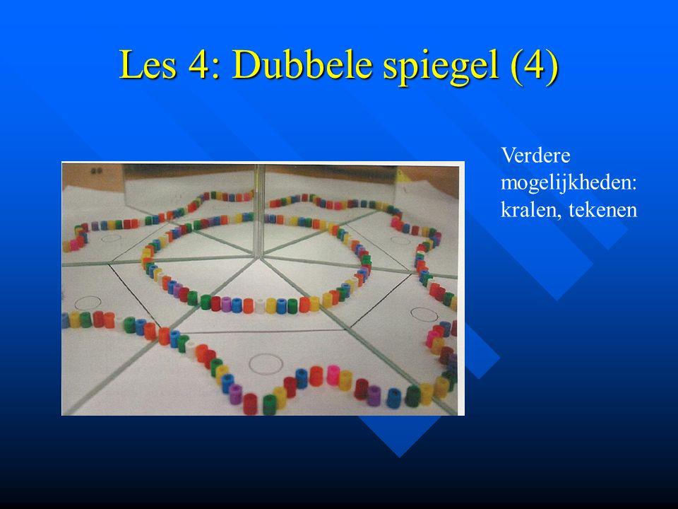 Les 4: Dubbele spiegel (4) Verdere mogelijkheden: kralen, tekenen