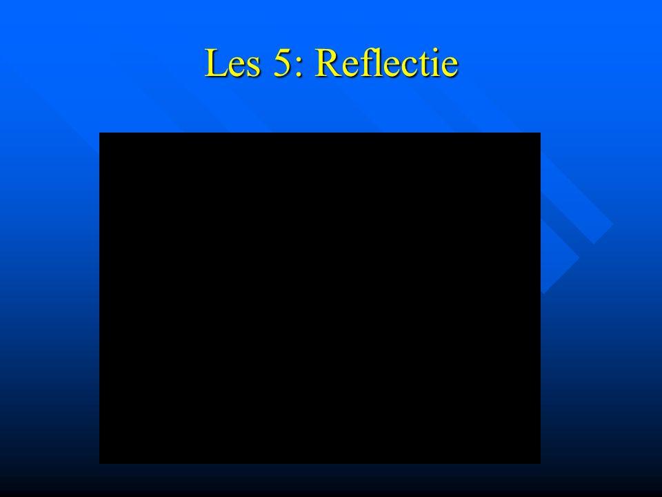 Les 5: Reflectie