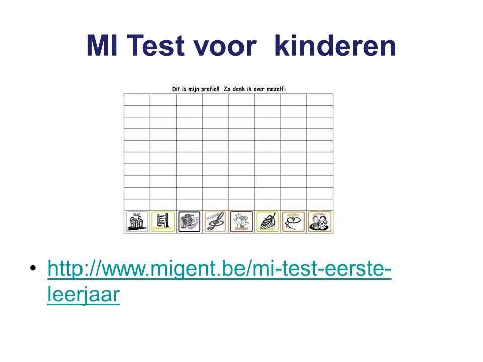 MI Test voor kinderen http://www.migent.be/mi-test-eerste- leerjaarhttp://www.migent.be/mi-test-eerste- leerjaar