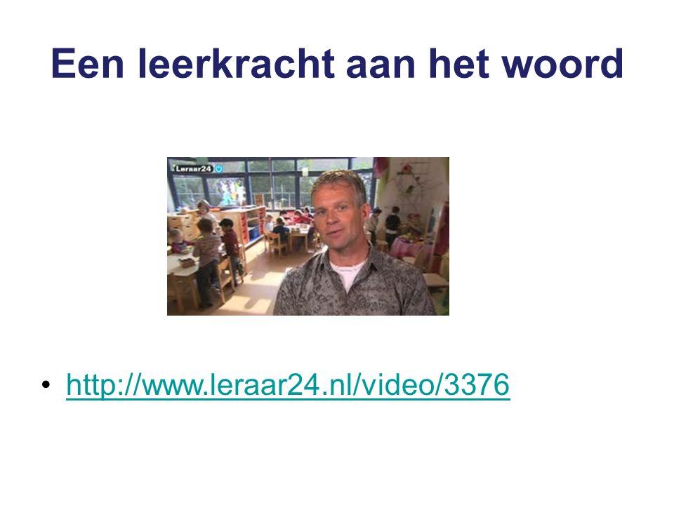 Een leerkracht aan het woord http://www.leraar24.nl/video/3376