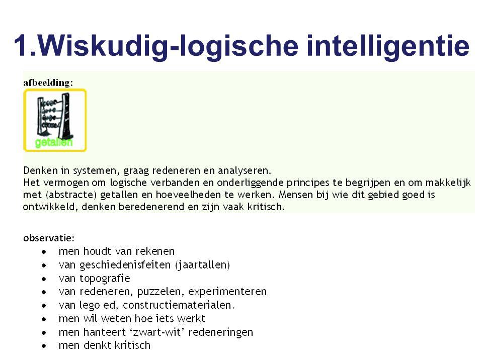 1.Wiskudig-logische intelligentie