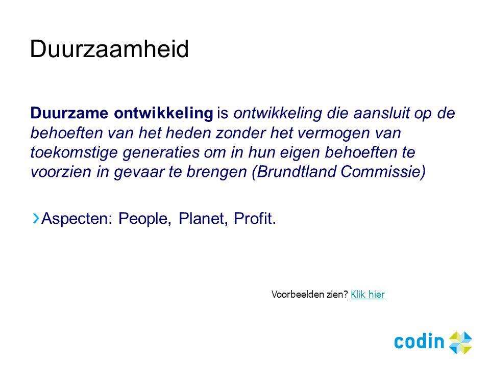Contactnet voor duurzame innovatie Noord Nederland www.codin.nl