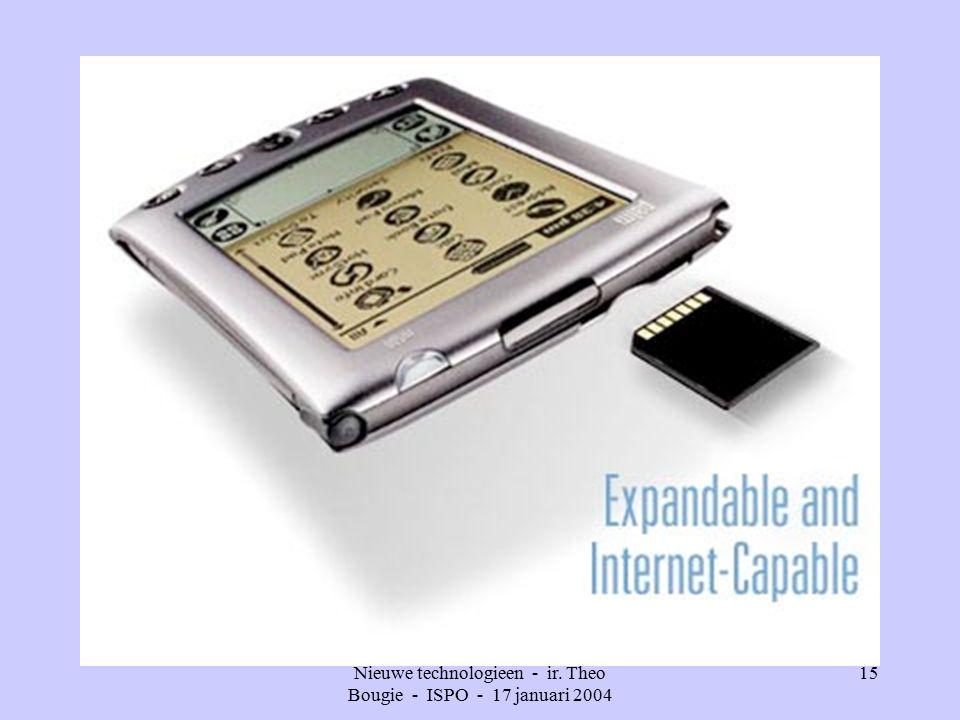 Nieuwe technologieen - ir. Theo Bougie - ISPO - 17 januari 2004 15