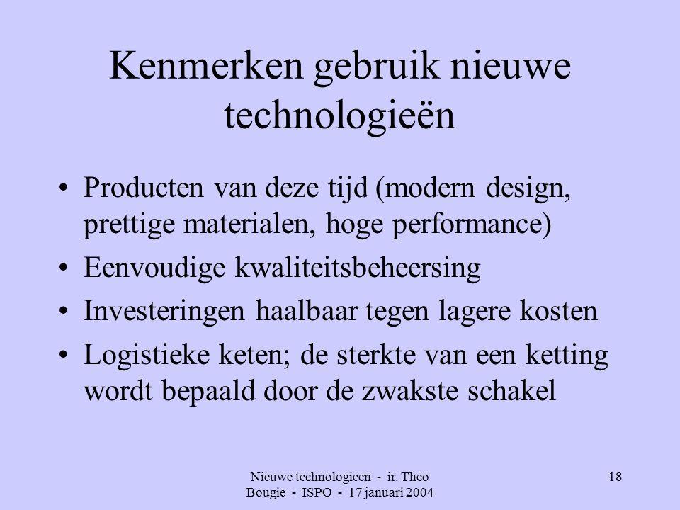 Nieuwe technologieen - ir.