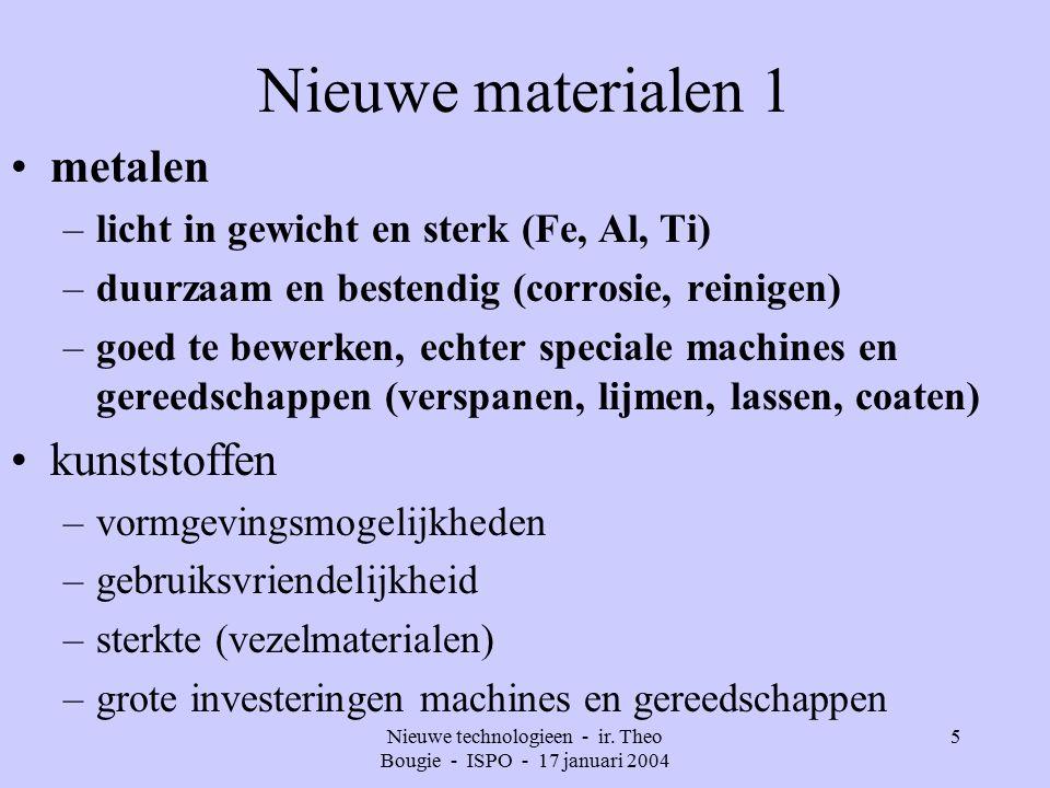Nieuwe technologieen - ir. Theo Bougie - ISPO - 17 januari 2004 16
