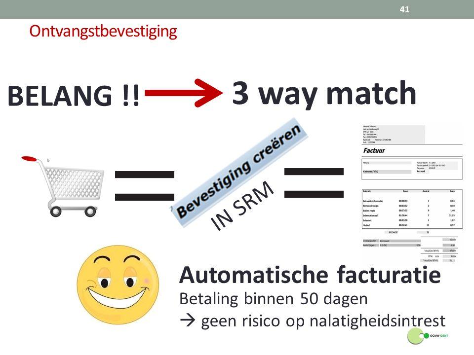 Ontvangstbevestiging BELANG !.