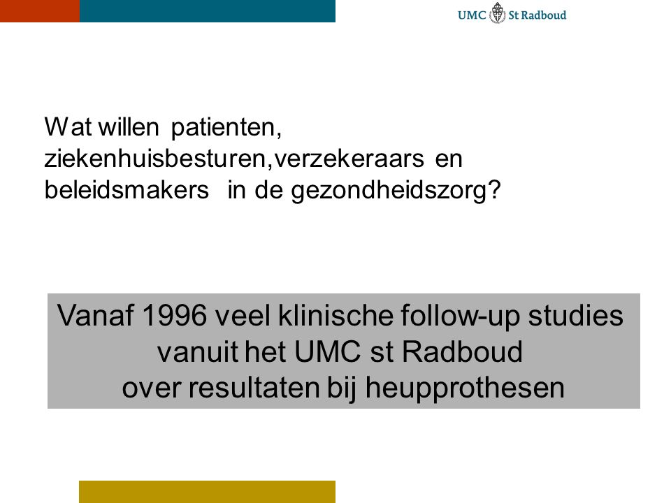Informatie op Website Orthopedie Radboud