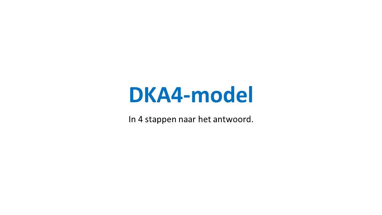 DKA4-model In 4 stappen naar het antwoord.