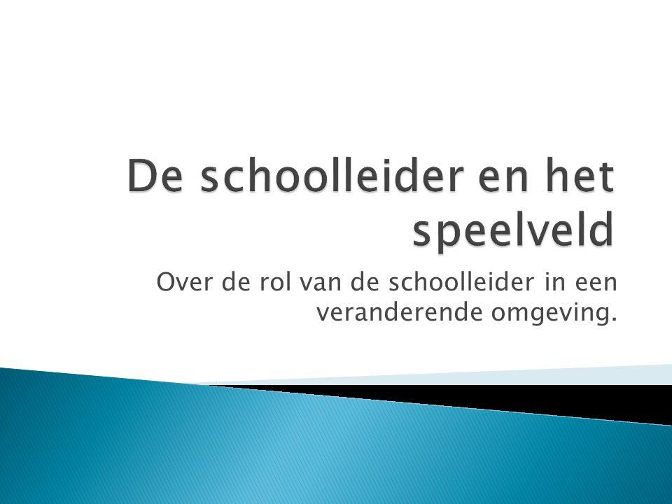 Over de rol van de schoolleider in een veranderende omgeving.