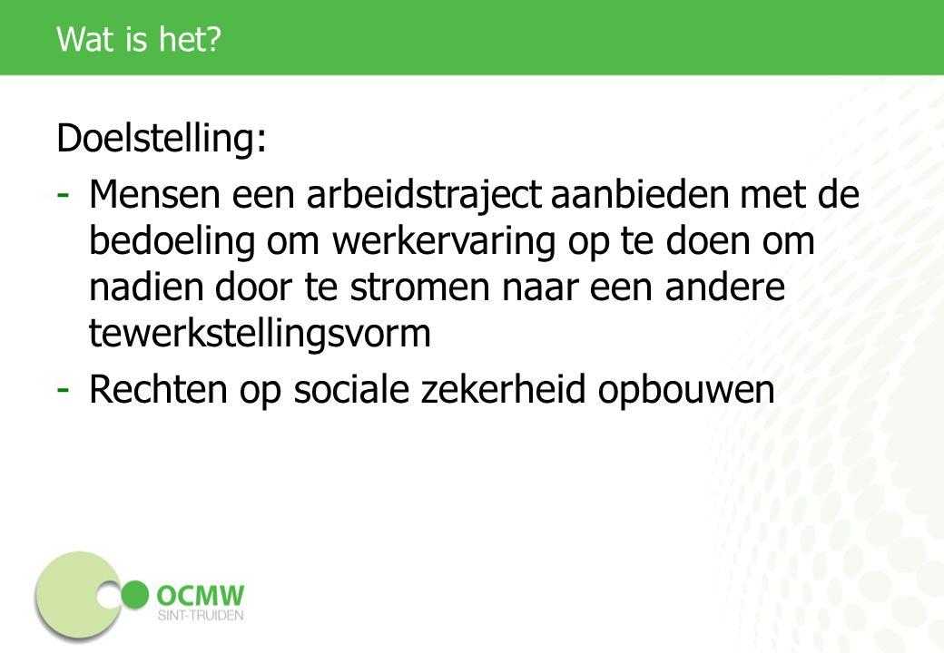 Werkwijze Het OCMW sluit een arbeidsovereenkomst af met de werknemer, met andere woorden de werknemer treedt in dienst bij het OCMW Het OCMW stelt deze persoon ter beschikking van de privéwerkgever